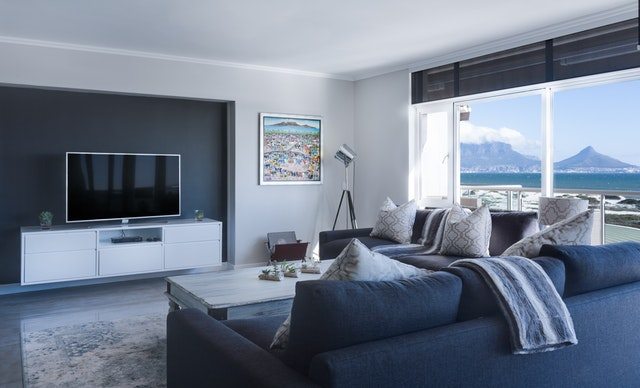 Interiér, obývačka, TV